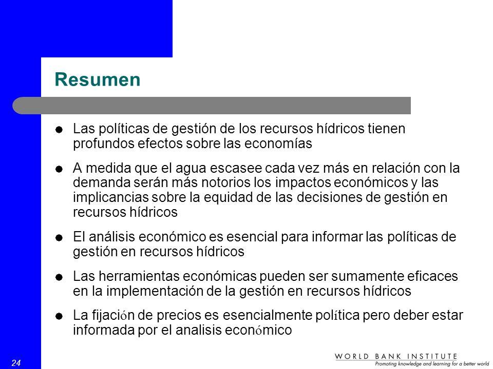 Dimensiones económicas de la gestión integrada en recursos ...