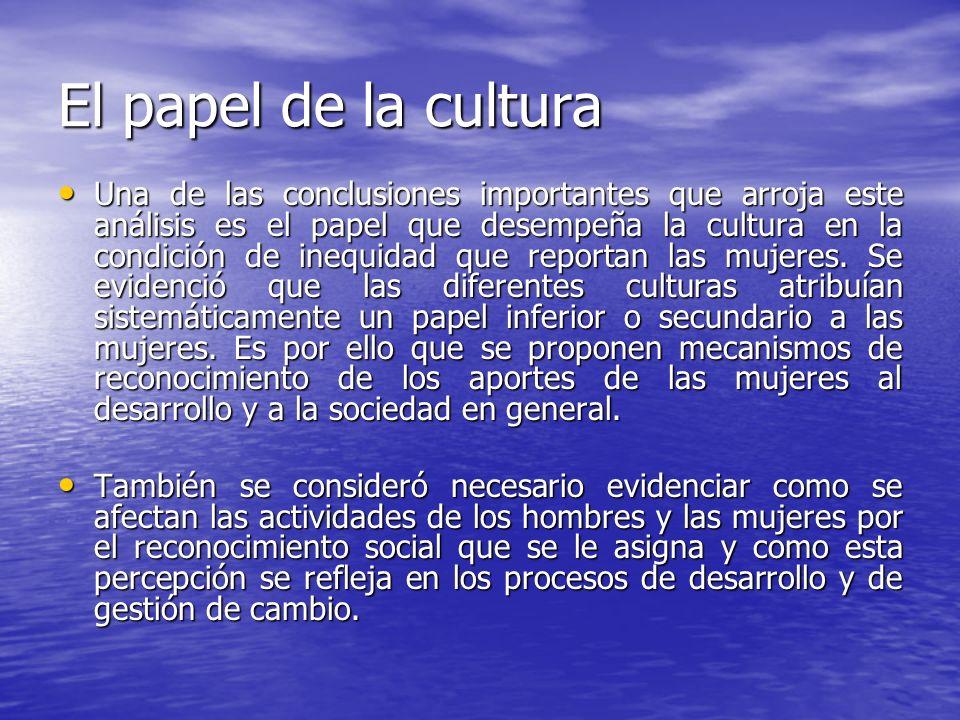 El papel de la cultura