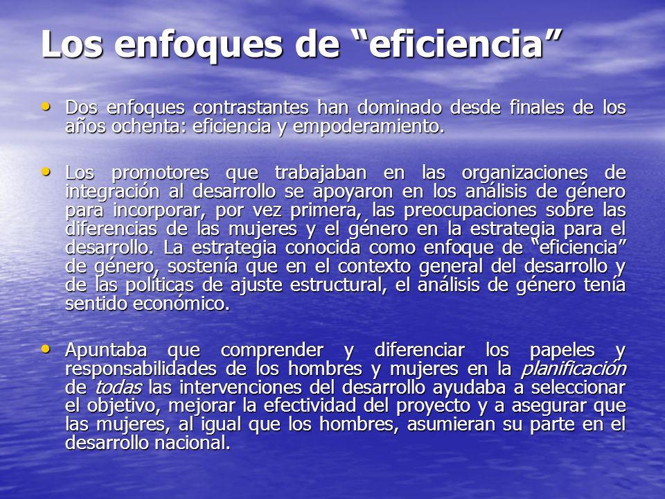 Los enfoques de eficiencia