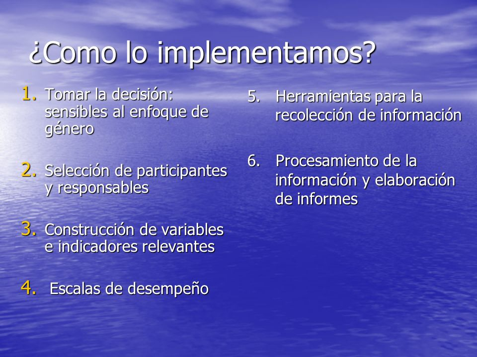 ¿Como lo implementamos