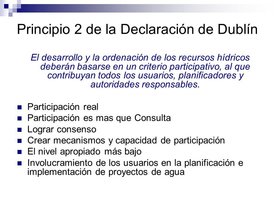 Principio 2 de la Declaración de Dublín
