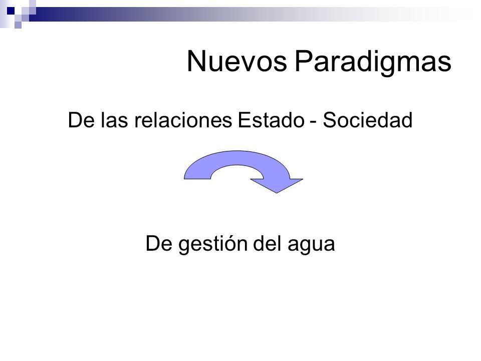 De las relaciones Estado - Sociedad