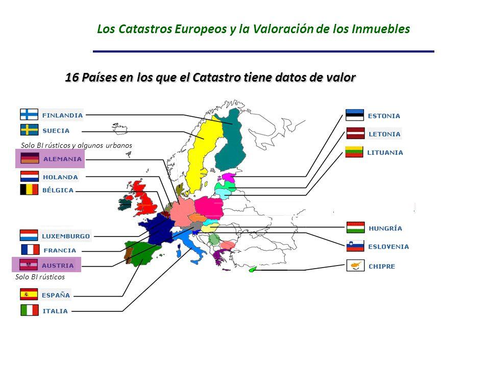 Los Catastros Europeos y la Valoración de los Inmuebles