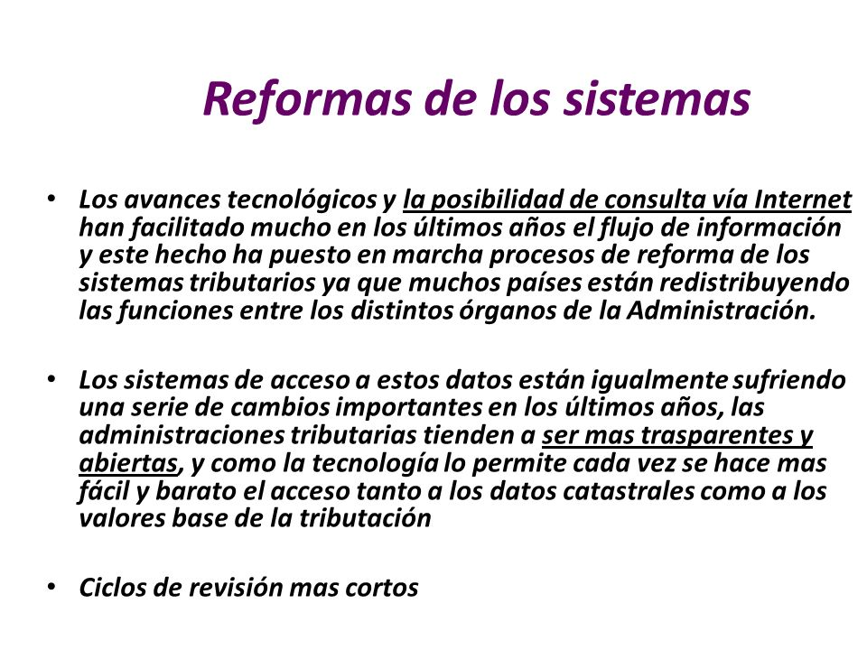 Reformas de los sistemas