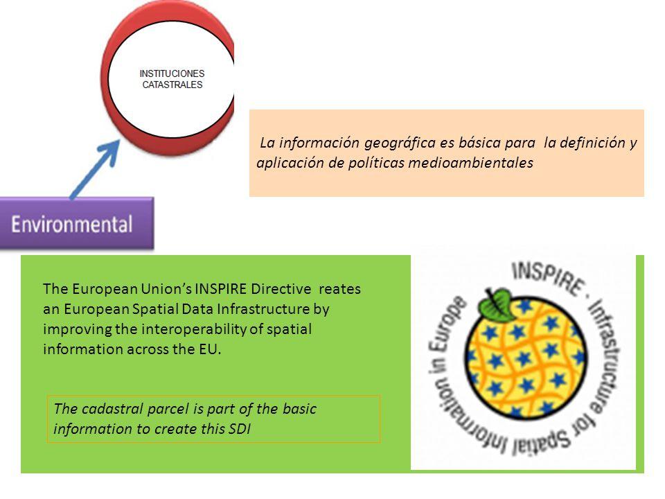 La información geográfica es básica para la definición y aplicación de políticas medioambientales