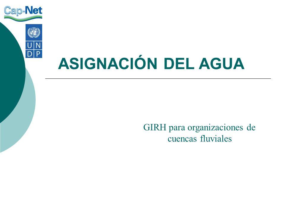 GIRH para organizaciones de cuencas fluviales