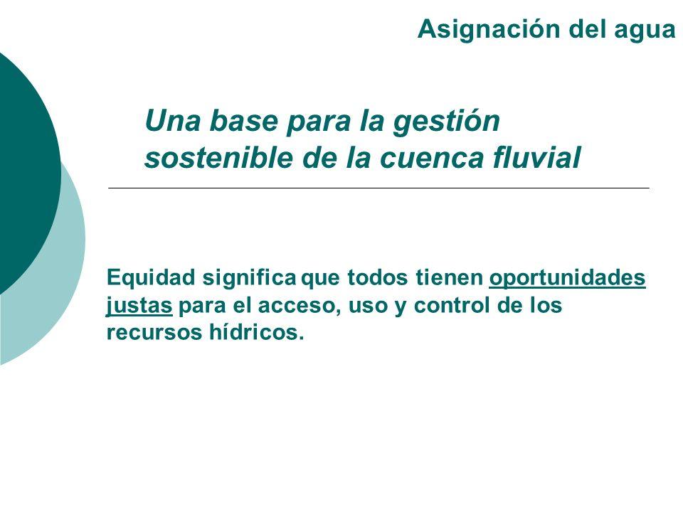 Una base para la gestión sostenible de la cuenca fluvial