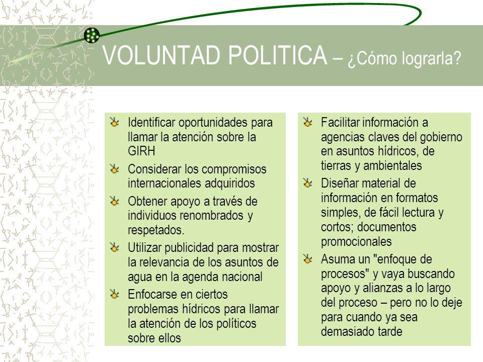 VOLUNTAD POLITICA – ¿Cómo lograrla