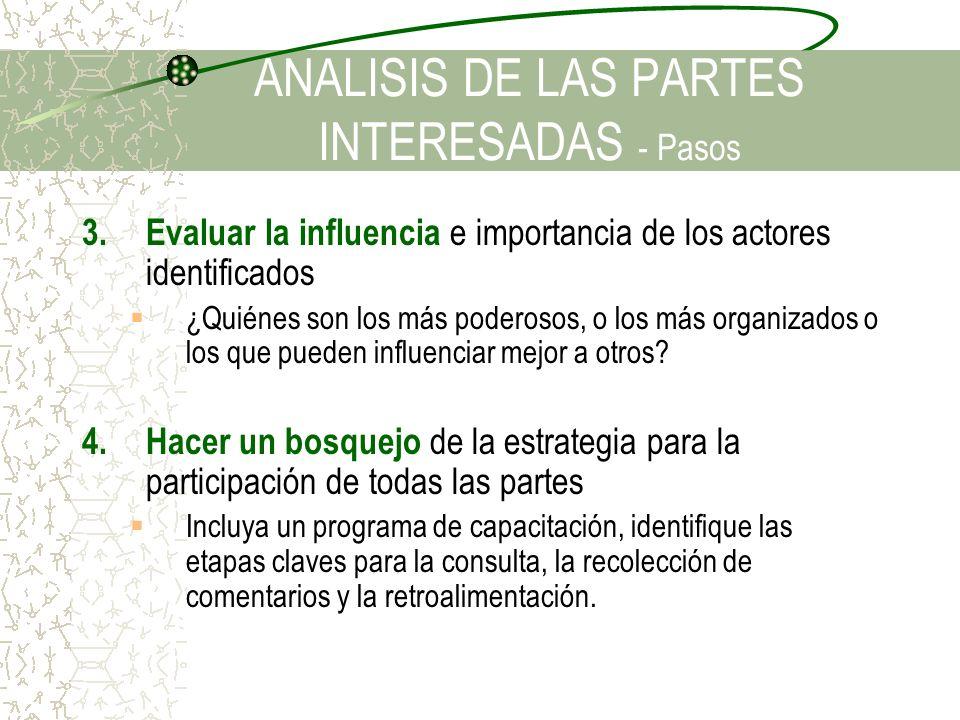 ANALISIS DE LAS PARTES INTERESADAS - Pasos