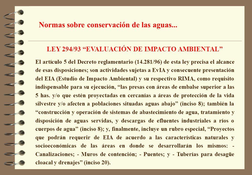 LEY 294/93 EVALUACIÓN DE IMPACTO AMBIENTAL