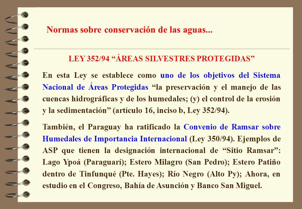 LEY 352/94 ÁREAS SILVESTRES PROTEGIDAS
