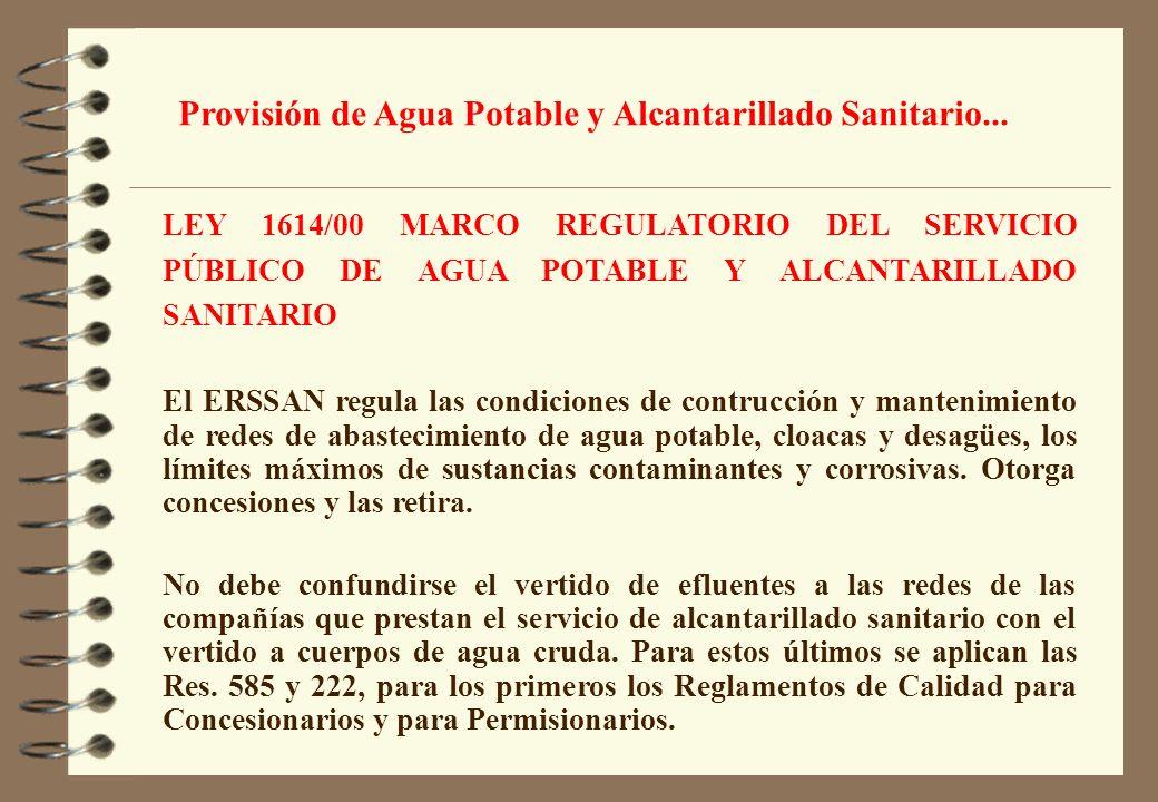 Provisión de Agua Potable y Alcantarillado Sanitario...