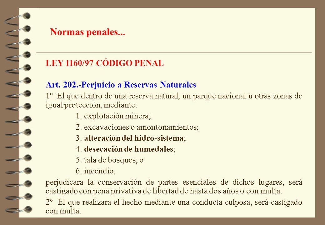 Normas penales... LEY 1160/97 CÓDIGO PENAL
