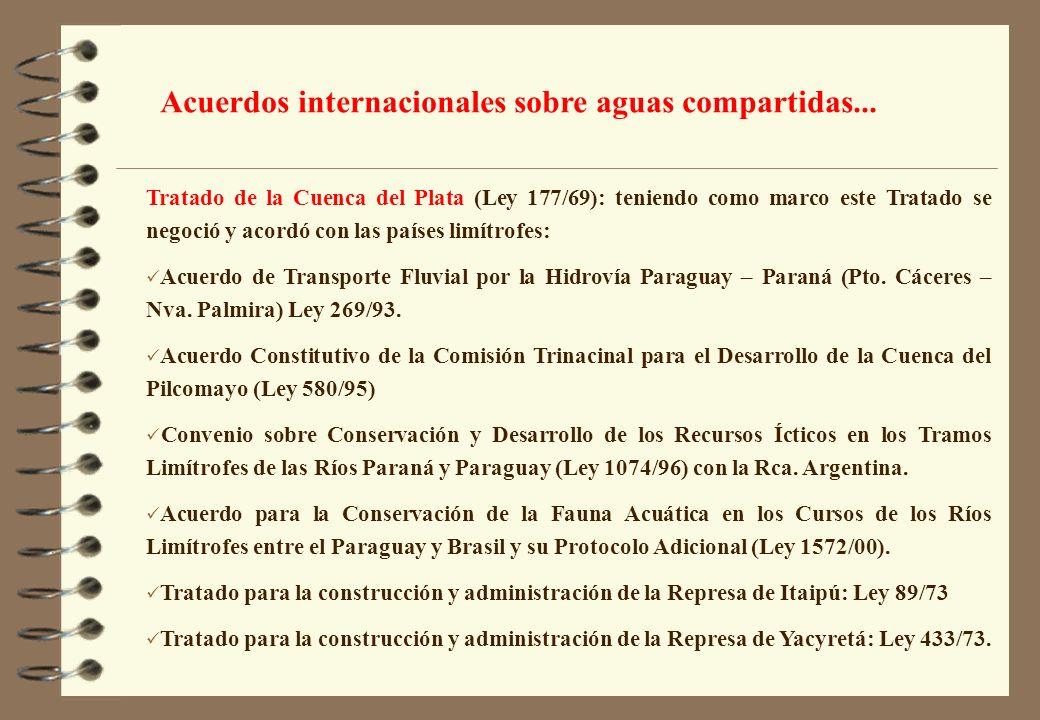 Acuerdos internacionales sobre aguas compartidas...
