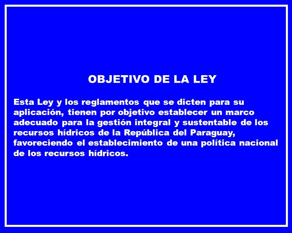 OBJETIVO DE LA LEY