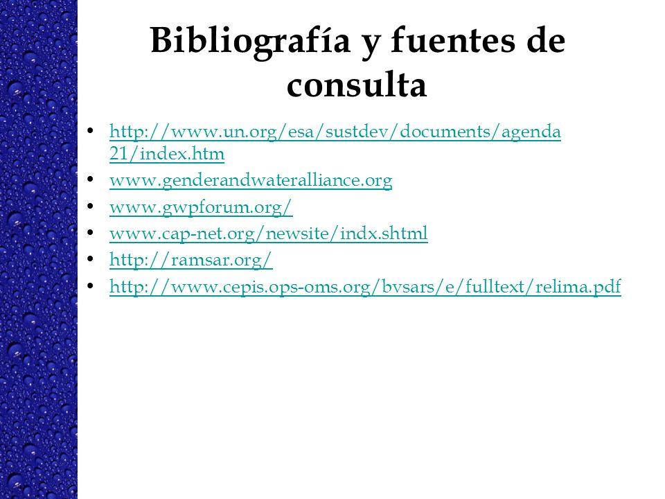 Bibliografía y fuentes de consulta