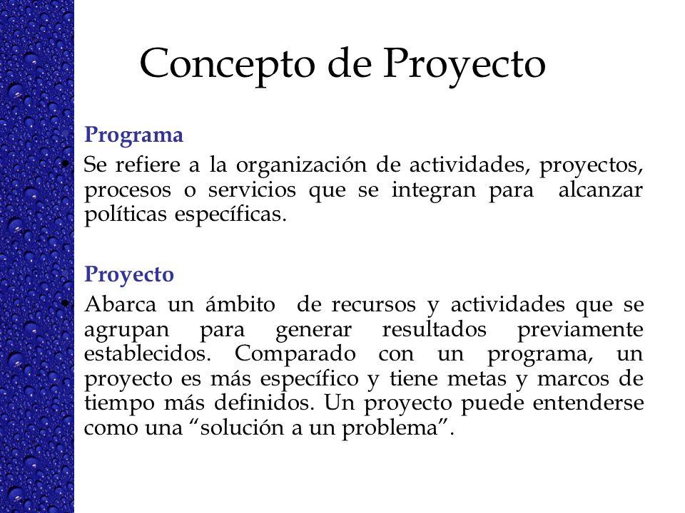 Concepto de Proyecto Programa