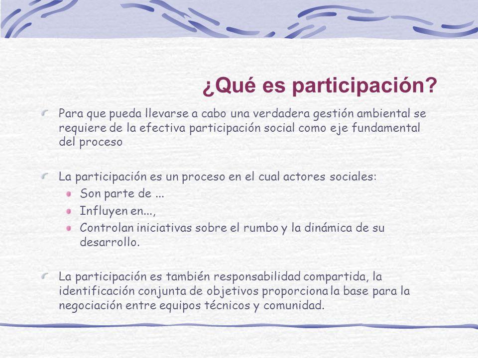 ¿Qué es participación