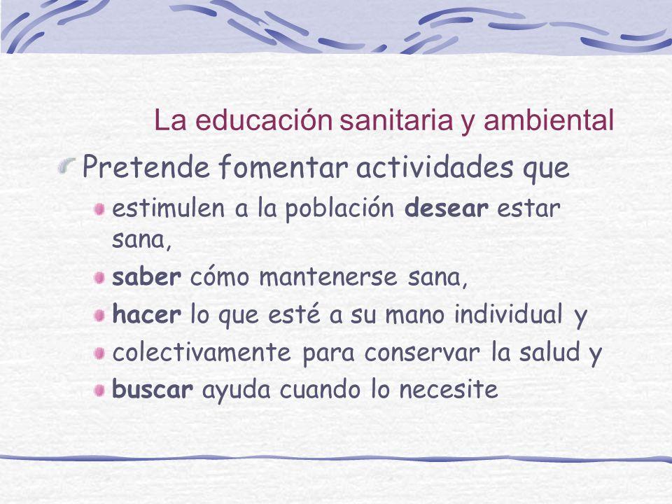 La educación sanitaria y ambiental