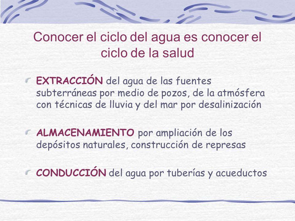 Conocer el ciclo del agua es conocer el ciclo de la salud
