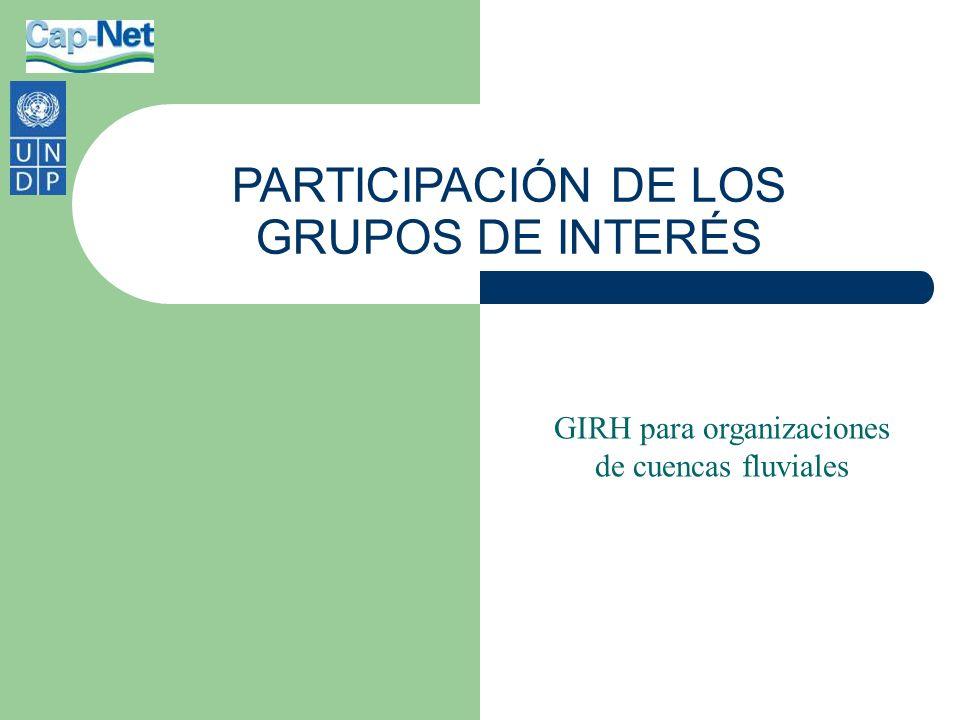 PARTICIPACIÓN DE LOS GRUPOS DE INTERÉS