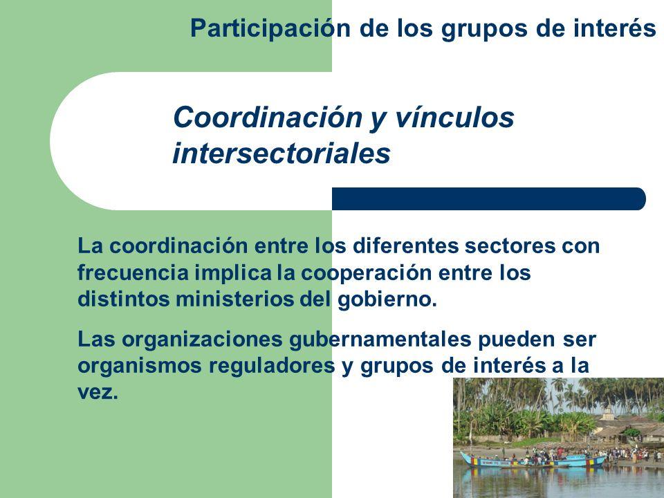 Coordinación y vínculos intersectoriales