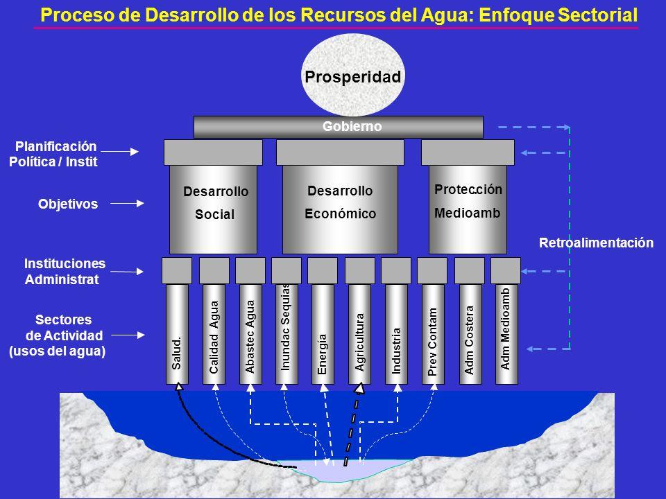 Proceso de Desarrollo de los Recursos del Agua: Enfoque Sectorial