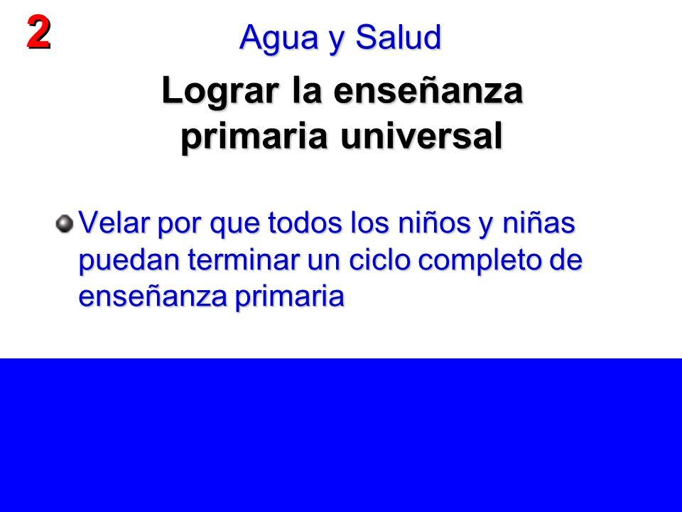 Lograr la enseñanza primaria universal