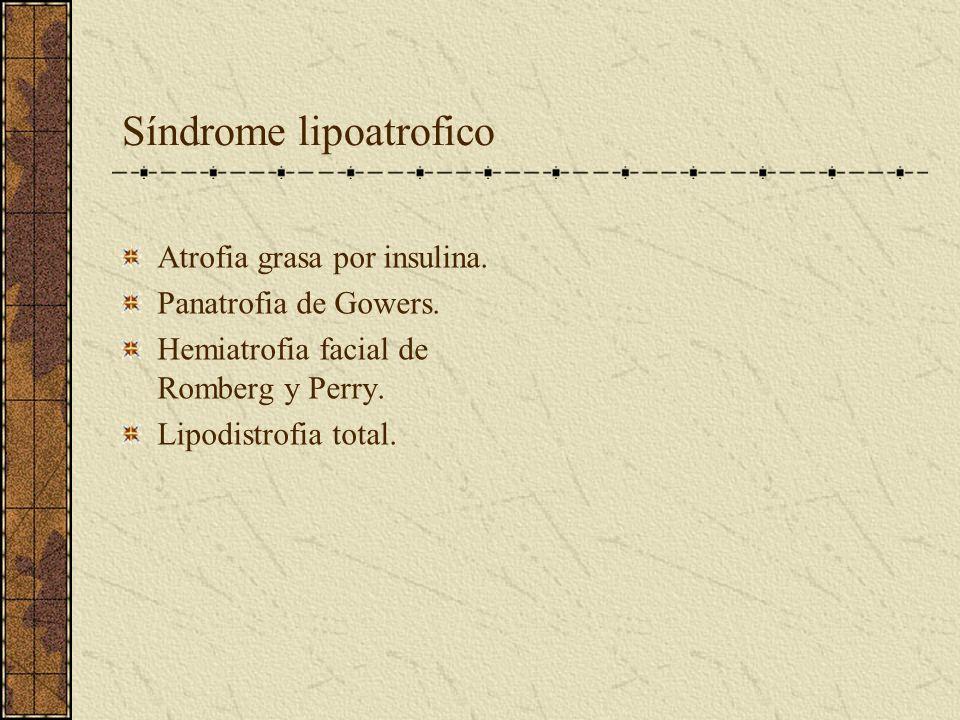 Síndrome lipoatrofico