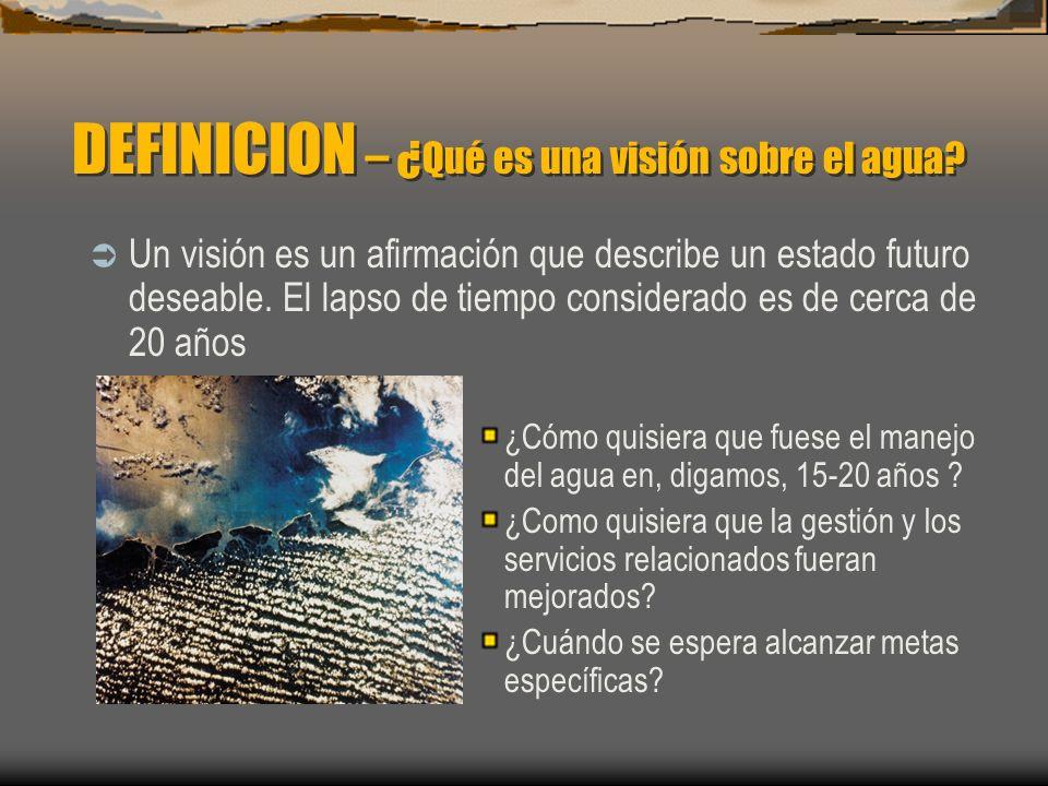 DEFINICION – ¿Qué es una visión sobre el agua