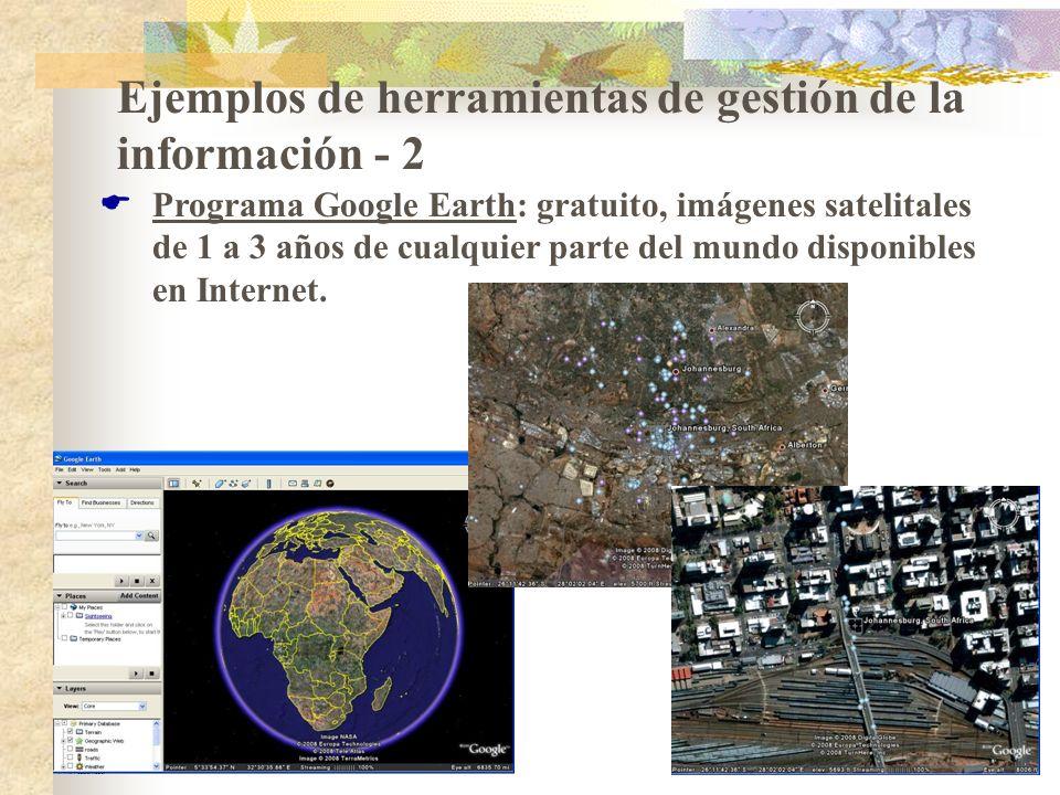 Ejemplos de herramientas de gestión de la información - 2