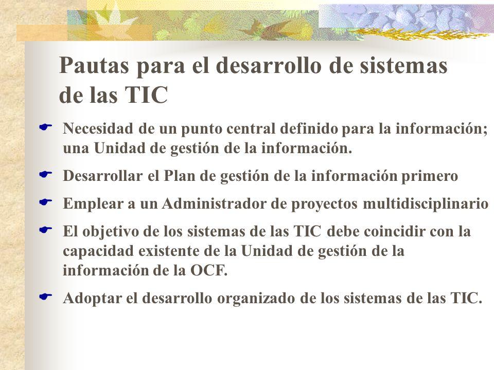 Pautas para el desarrollo de sistemas de las TIC