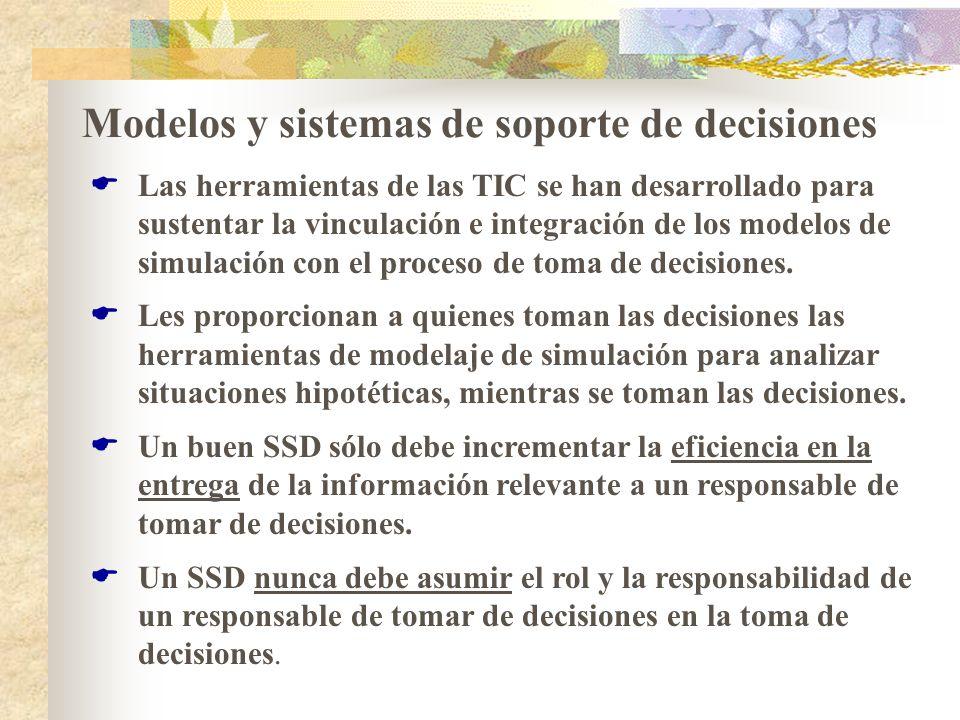 Modelos y sistemas de soporte de decisiones