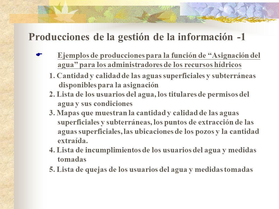 Producciones de la gestión de la información -1