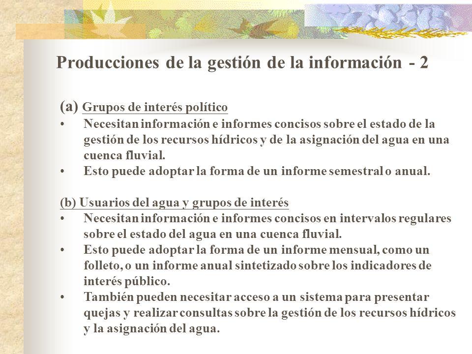 Producciones de la gestión de la información - 2