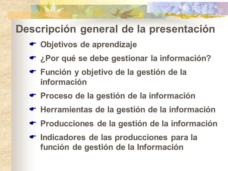 Descripción general de la presentación