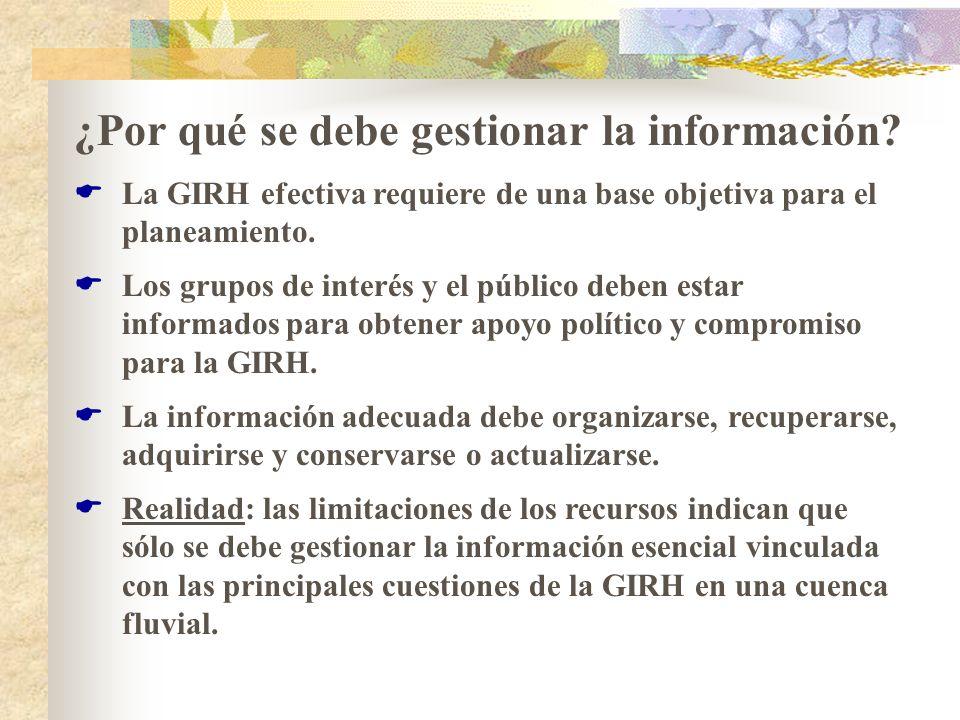 ¿Por qué se debe gestionar la información