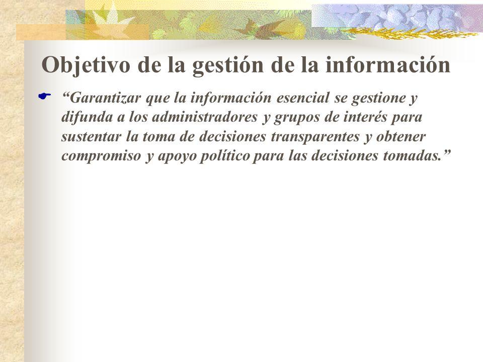 Objetivo de la gestión de la información