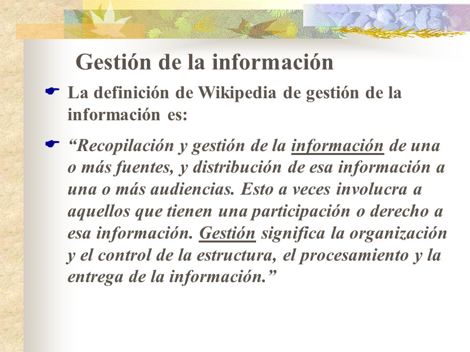 Gestión de la información