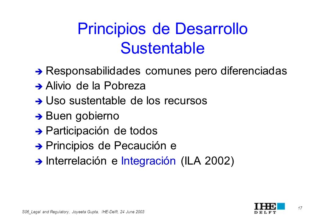 Principios de Desarrollo Sustentable