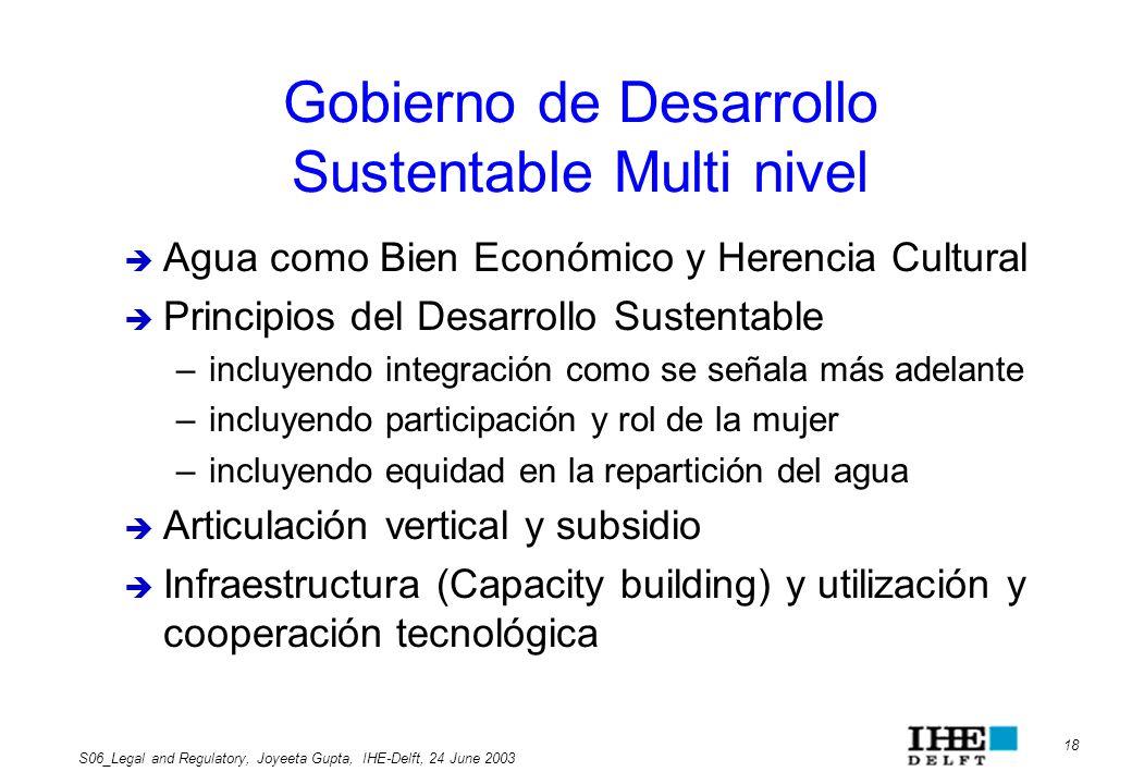 Gobierno de Desarrollo Sustentable Multi nivel