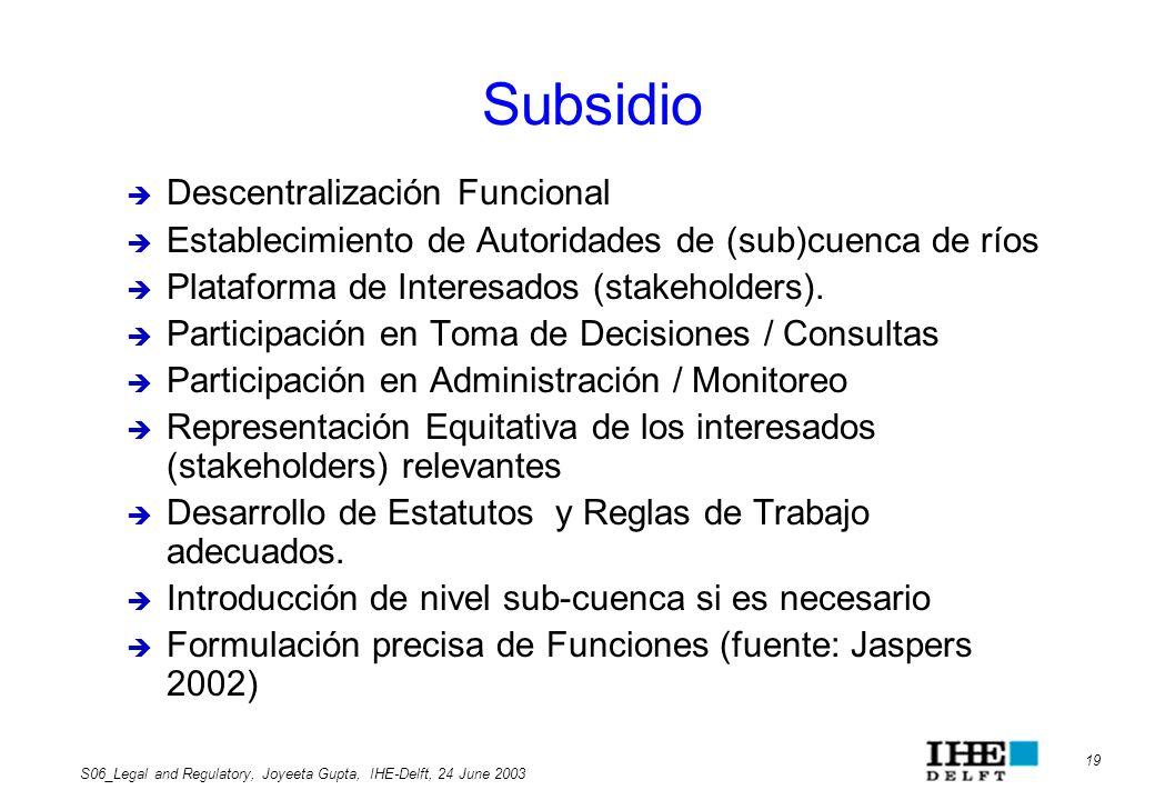 Subsidio Descentralización Funcional