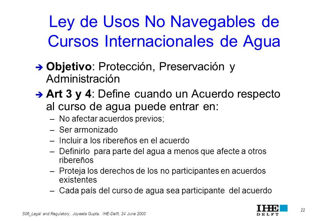 Ley de Usos No Navegables de Cursos Internacionales de Agua