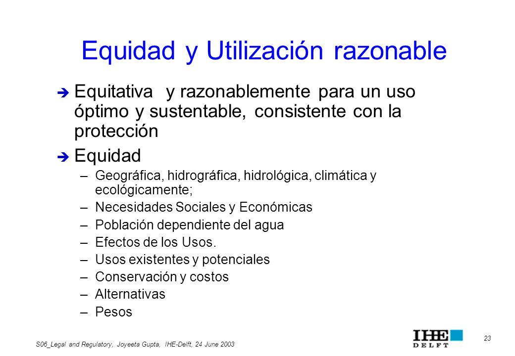 Equidad y Utilización razonable