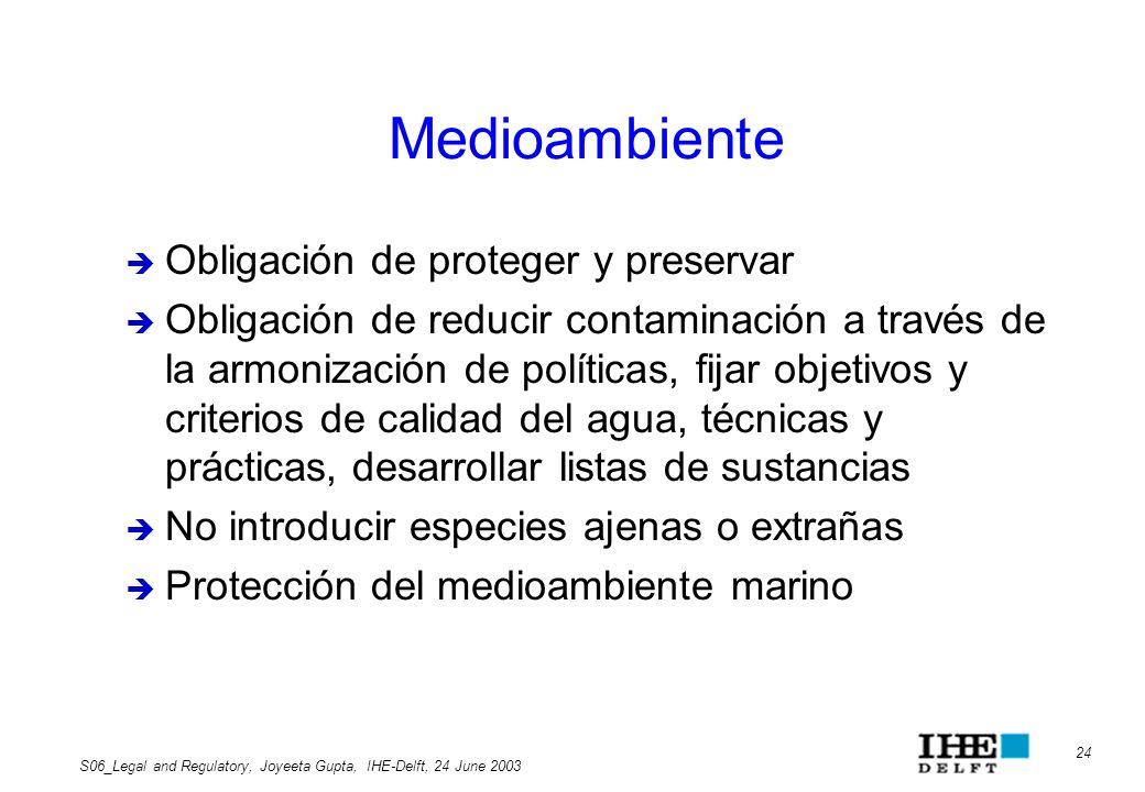 Medioambiente Obligación de proteger y preservar