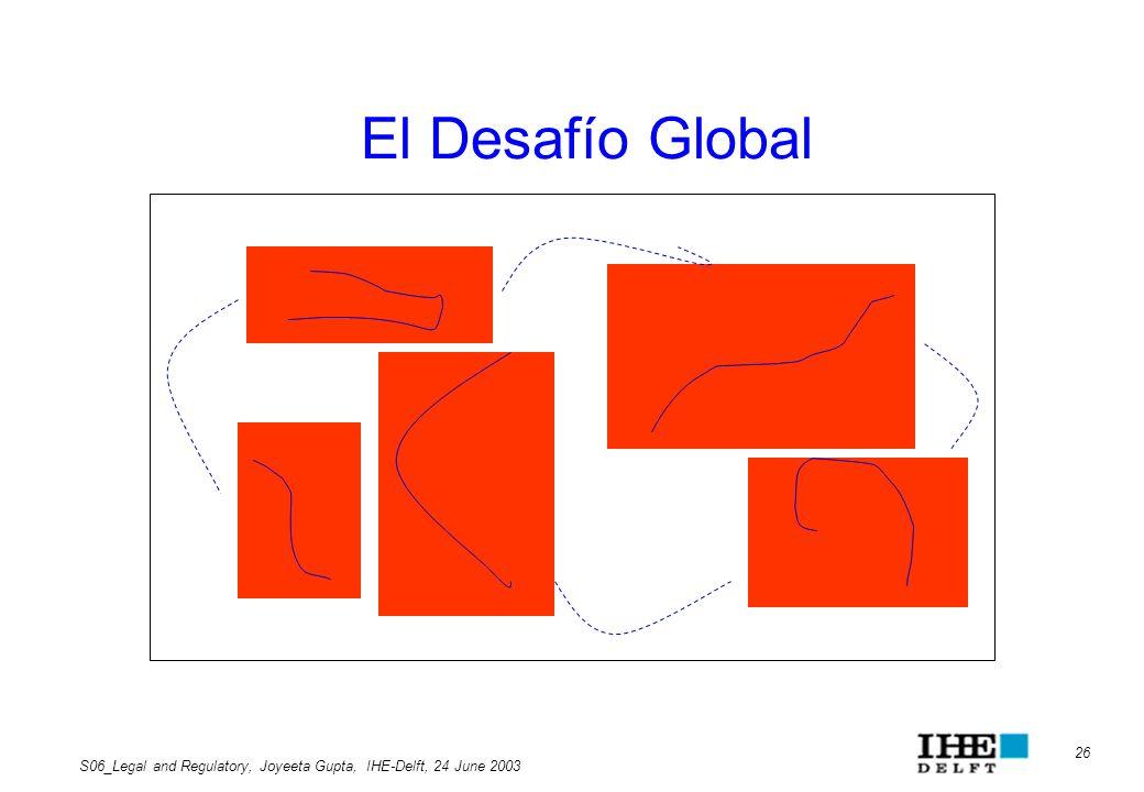 El Desafío Global S06_Legal and Regulatory, Joyeeta Gupta, IHE-Delft, 24 June 2003