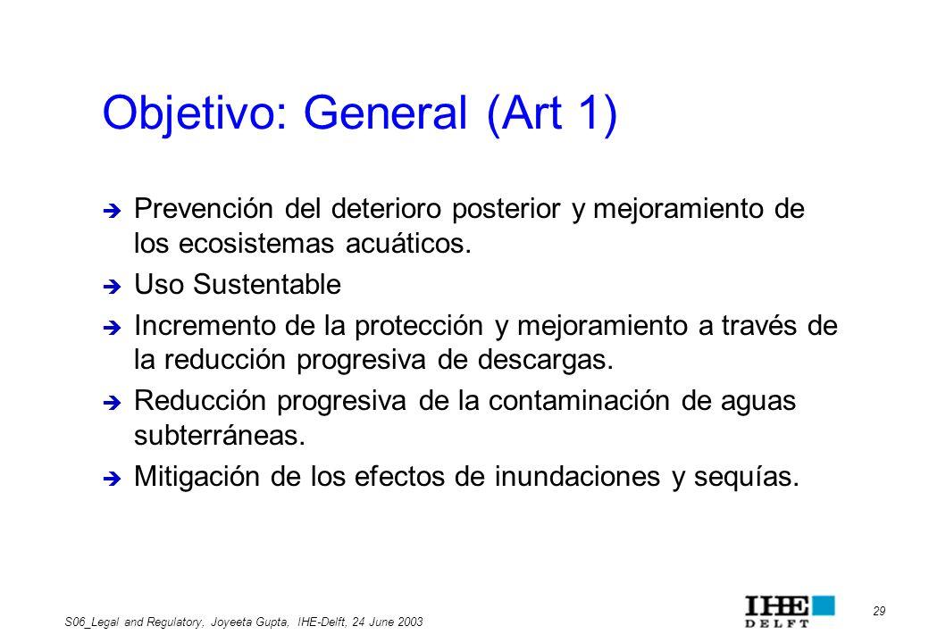 Objetivo: General (Art 1)