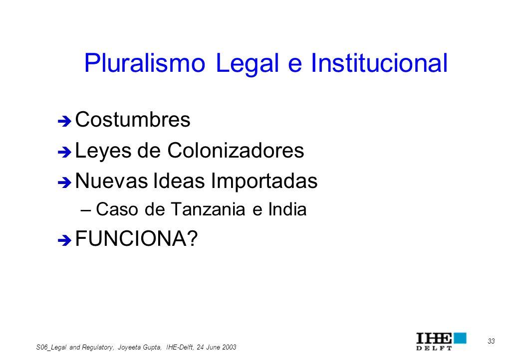 Pluralismo Legal e Institucional