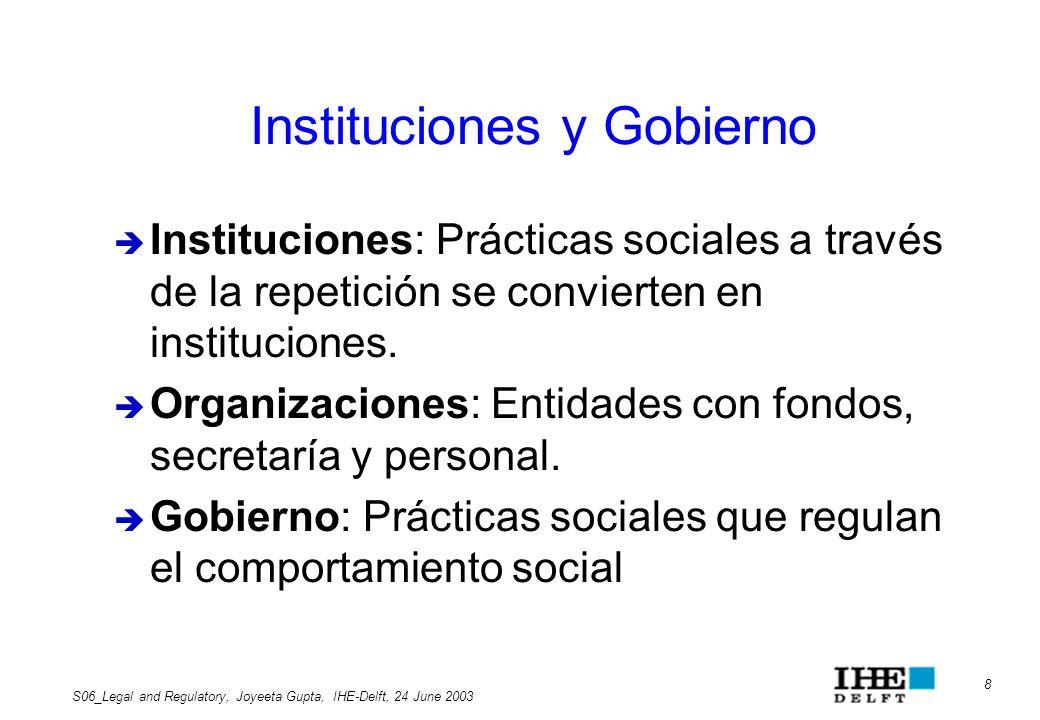 Instituciones y Gobierno