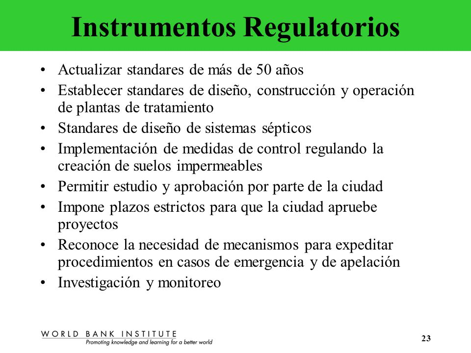 Instrumentos Regulatorios
